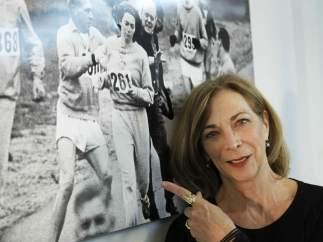La corredora Kathrine Switzer