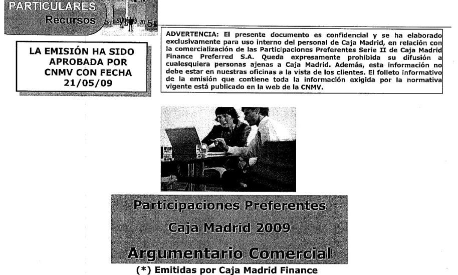 Caja madrid orden no ense ar a los clientes su argumentario interno de venta de preferentes - Caja espana oficina virtual clientes ...