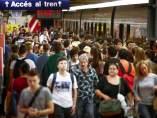 Caos en el metro por la reducci�n de horarios