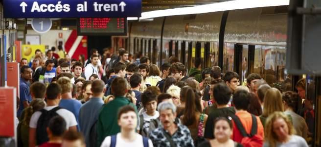 Usuarios del metro de València