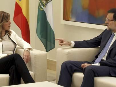Susana Díaz, con Mariano Rajoy