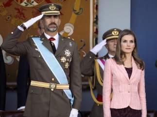 Los príncipes, en el desfile del 12 de octubre
