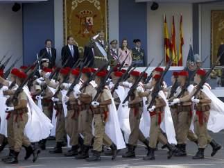 Desfile de las tropas
