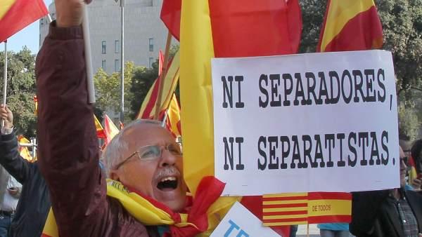 Pancartas en Barcelona