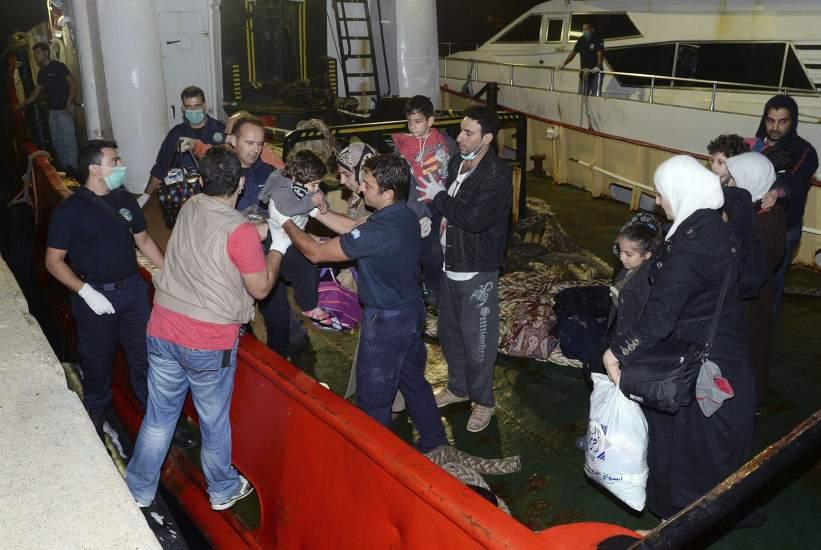 Rescate frente a la costa griega