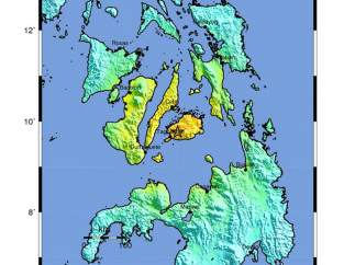 Terremoto en el área central de Filipinas