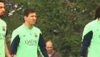 Ver v�deo Messi vuelve a los entrenamientos