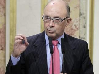 El titular de la cartera de Hacienda, Cristóbal Montoro, en el Congreso.
