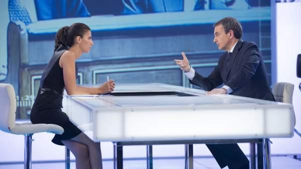 Ana Pastor entrevista a José Luis Rodríguez Zapatero