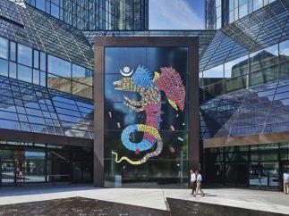 Glasportal der Deutsche Bank AG-Türme an der Taunusanlage