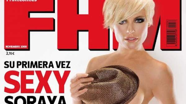 Soraya posa para una revista masculina
