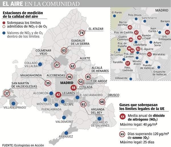 Casi la mitad de la Comunidad de Madrid registra ya niveles
