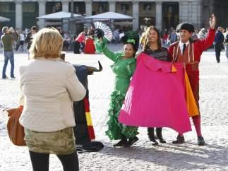 Turistas en la Plaza Mayor