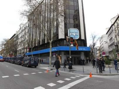 Sede central del PP en la calle de Génova en Madrid
