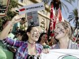 Protestas en pleno centro de Murcia
