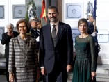 La reina Sofía, con los príncipes