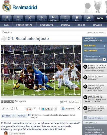 Real Madrid web