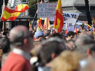 "Carteles de ""Rajoy traidor"""