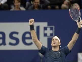 Juan Martín del Potro, ganador del Abierto de Basilea de tenis