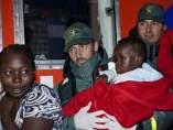Llegada de inmigrantes al puerto de Motril