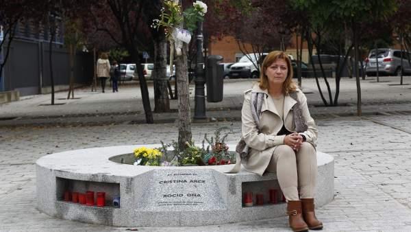 Isabel de la Fuente, madre de Cristina Arce
