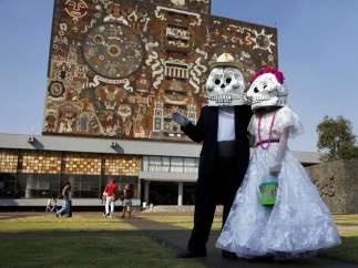 Disfraces por el Día de los Muertos en México