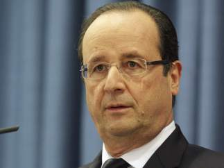 François Hollande, presidente de Francia.