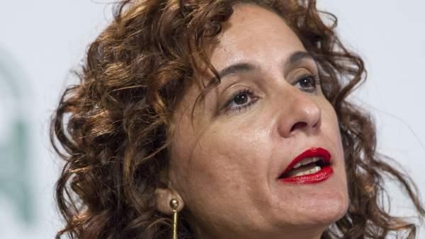 María Jesús Montero, consejera andaluza de Hacienda