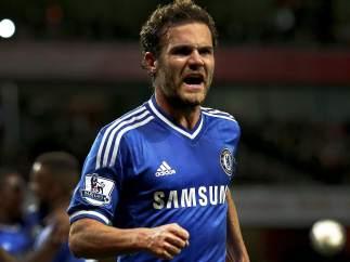 Juan Mata con el Chelsea