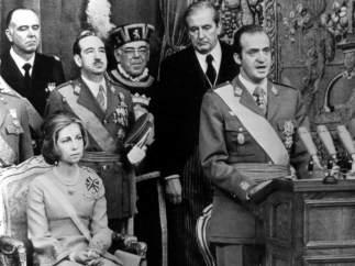 En el primer discurso del rey a las Cortes