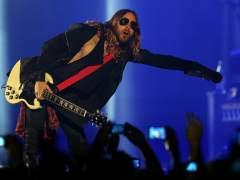 Jared Leto en un concierto de Thirty Seconds to Mars