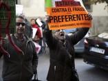 Protestas contra Blesa ante el juzgado