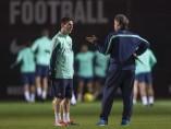 'Tata' Martino y Messi