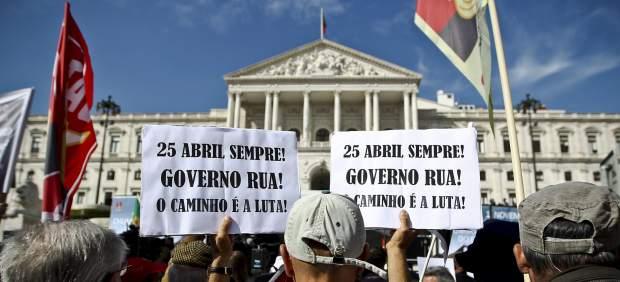 Manifestación en Portugal contra los presupuestos