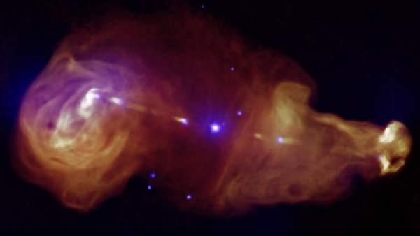 Científicos de la NASA observan el violento pasado del agujero negro gigante de la Vía Láctea