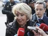 Aguirre, ante los medios antes de su entrada en los juzgados