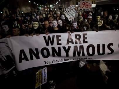 Anonymous en Londres