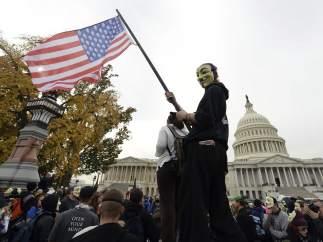 Protestas de Anonymous en Washington