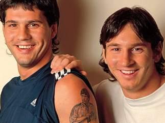 Matías y Leo Messi