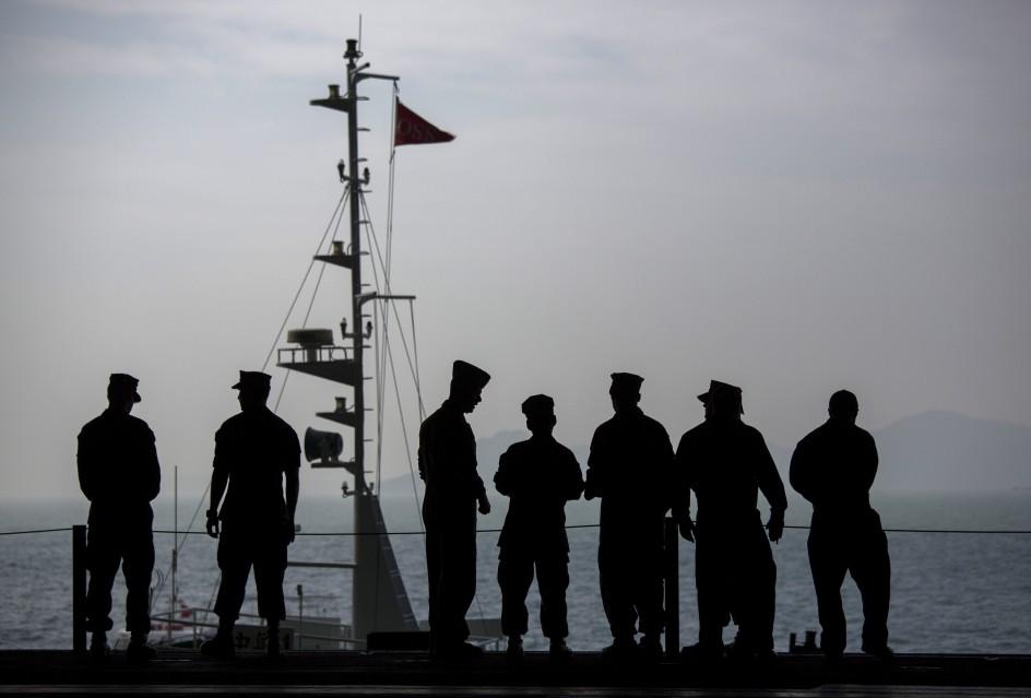 Maniobras militares frente a China