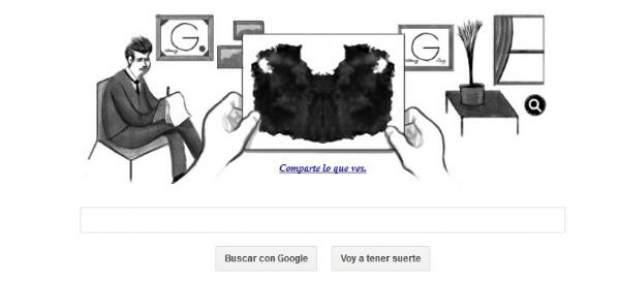 Google indaga hoy en tu propia personalidad con un doodle sobre el Test de Rorschach