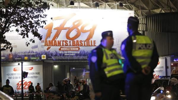 Explosión en un espectáculo en París