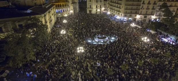 Manifestación contra el cierre de Canal Nou