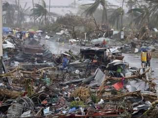Destrucción en Tacloban