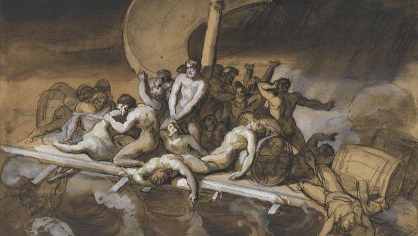 Scène du cannibalisme sur le radeau de la Méduse, 1818-1919