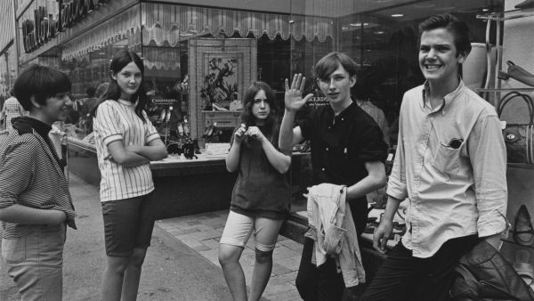 'Teenagers on the street in downtown Detroit', 1968