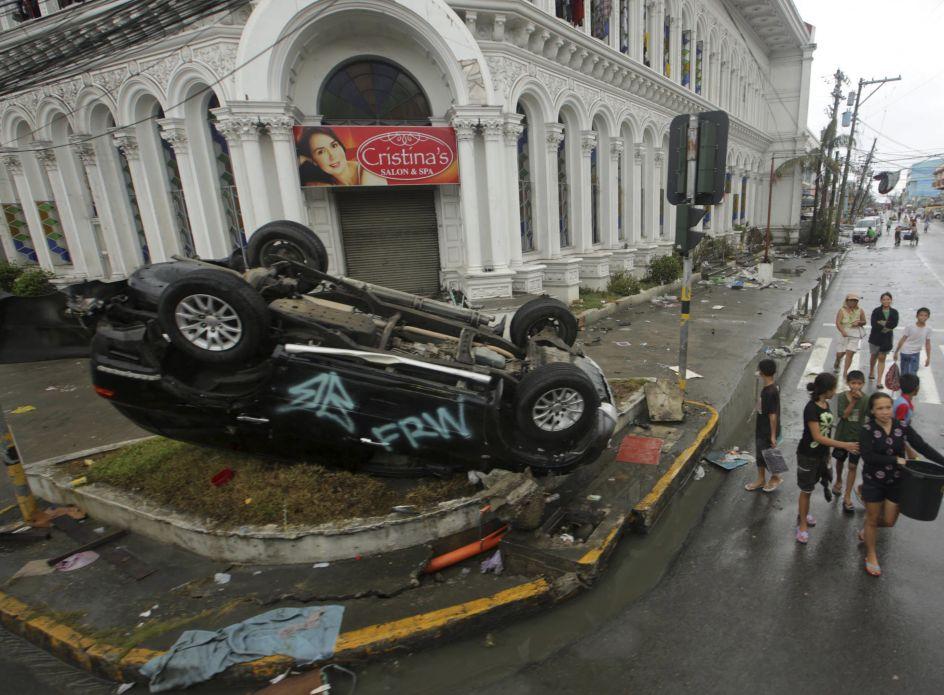 Los efectos del tifón 'Haiyan'