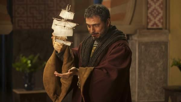 Cristobal Colón (Julio Manrique) en 'Isabel'