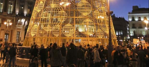 Madrid enciende su �rbol de Navidad
