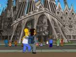 Ver Homer Simpson visita Barcelona y la Sagrada Familia